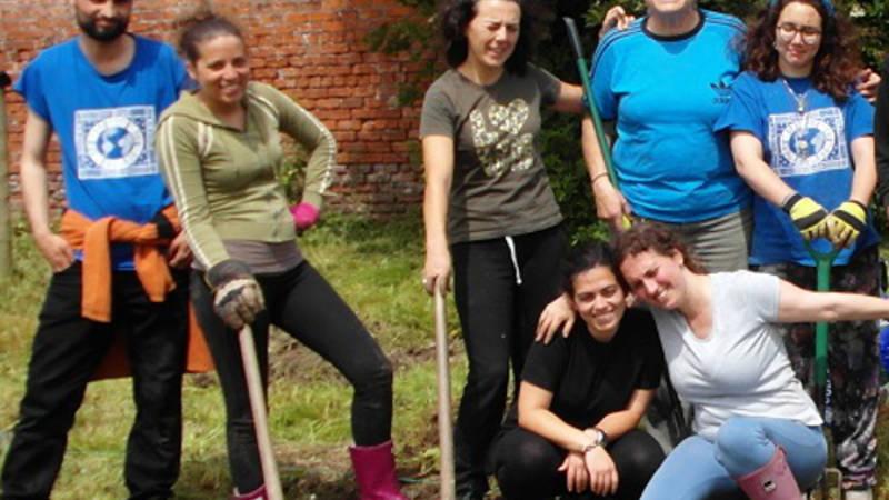 Garden farming team at CICD