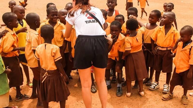 interection with children in Ghana