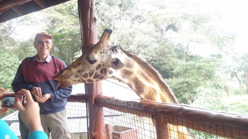 Weekend time out at the giraffe center