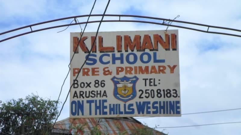 The school's sign