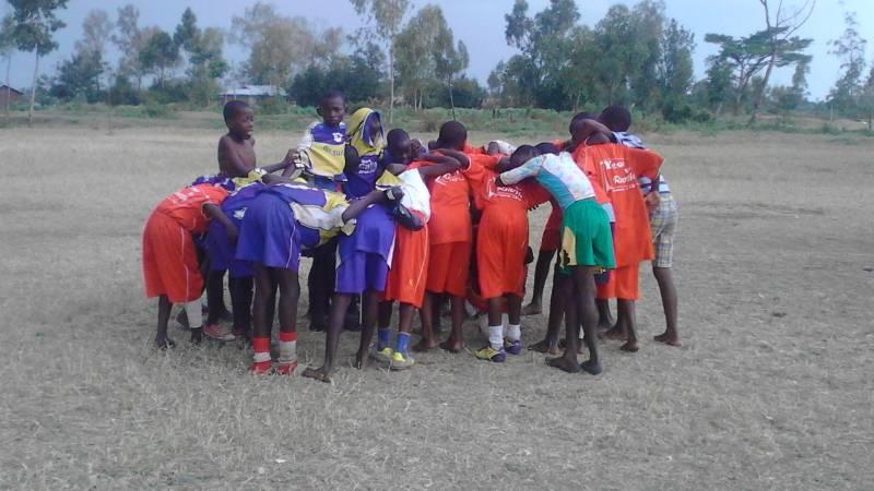 Preparation for inter participants football matc