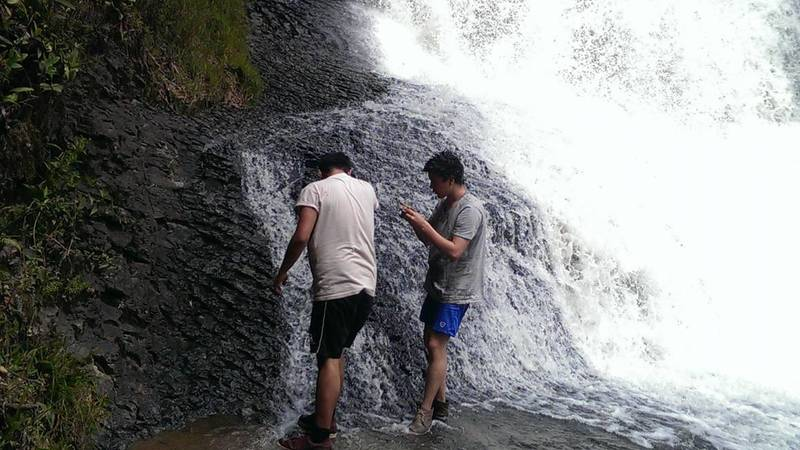 visiting waterfalls