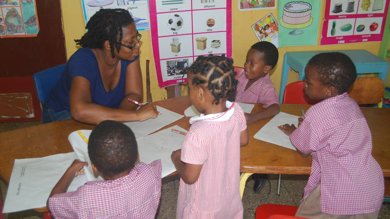 Children excited about learning