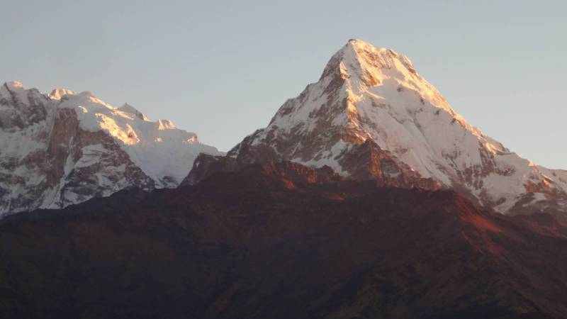 The Himalayas in trekking trails