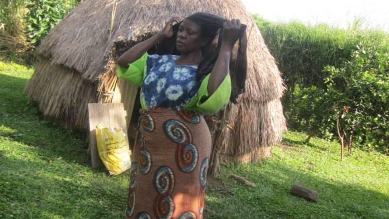 women leader near hut