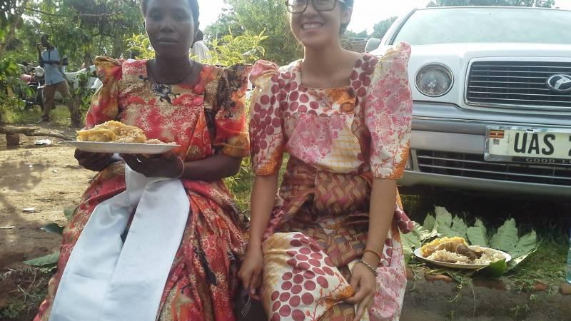 onsite volunteer in our local dress