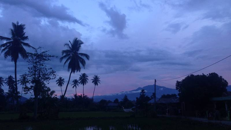 Evening view from accommodation, Panyabungan