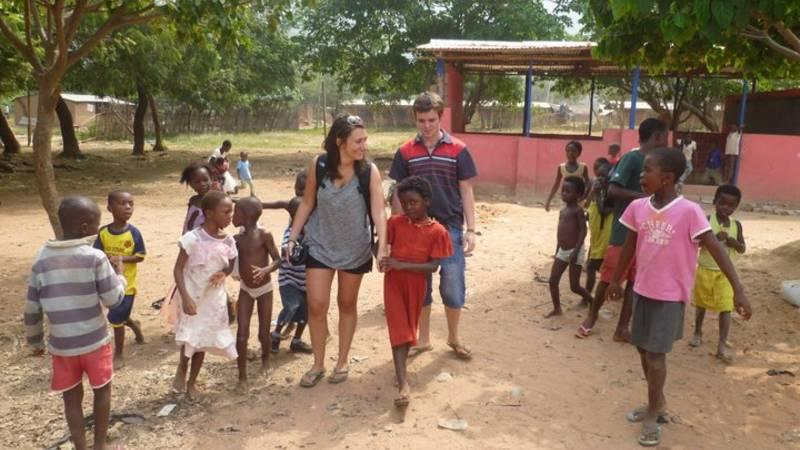 Volunteers exploring after school