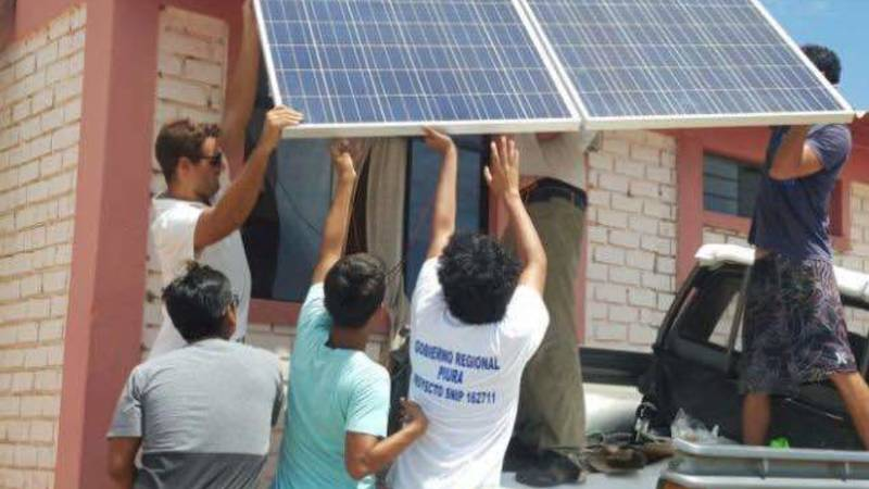 Installing solar panels at the Fishermen's Guild