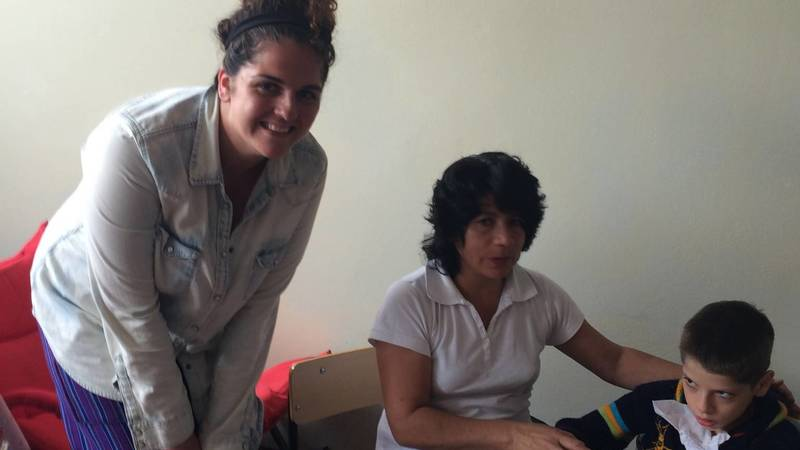 Work with blind and autistic pupils
