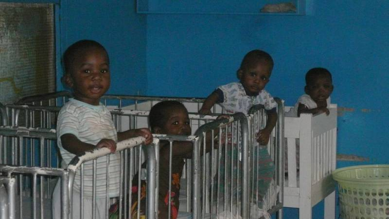 babies at the orphanage