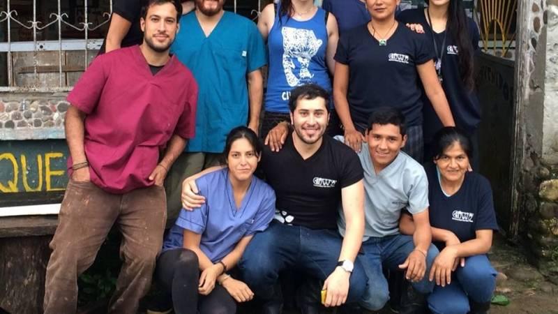 Volunteers at animal rescue center