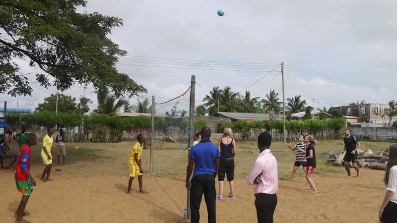 Volleyball at the school