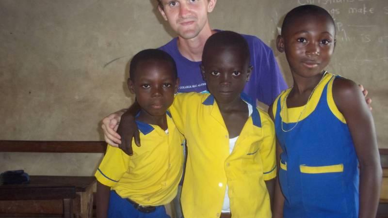 Teach children in Ghana