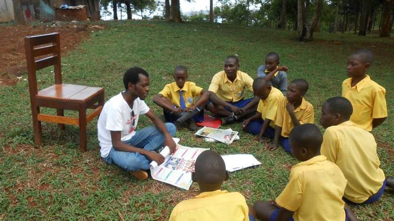 Ken and his students in a lifeskills class.