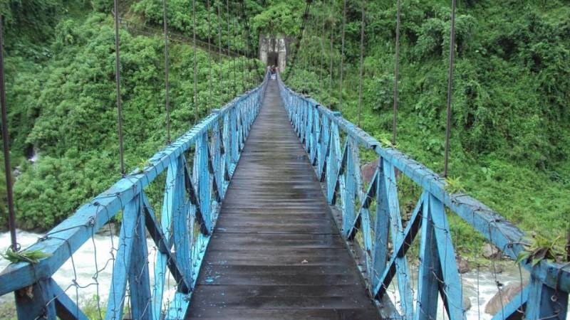 Hanging bridge in Gorubathan