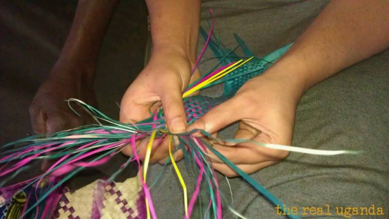 learning to weave a traditional mat