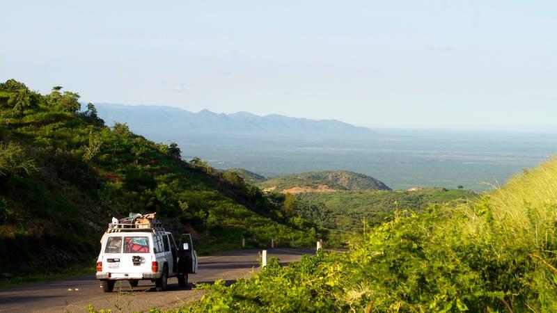 The drive through the Omo Valley