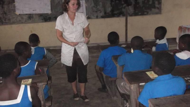 Training school children on nutrition