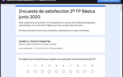 Encuestas de satisfacción para FP Básica