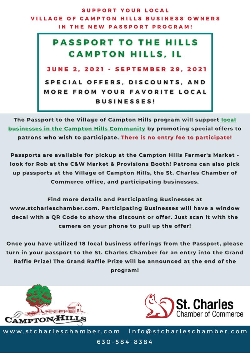 Campton Hills Passport Program Flyer