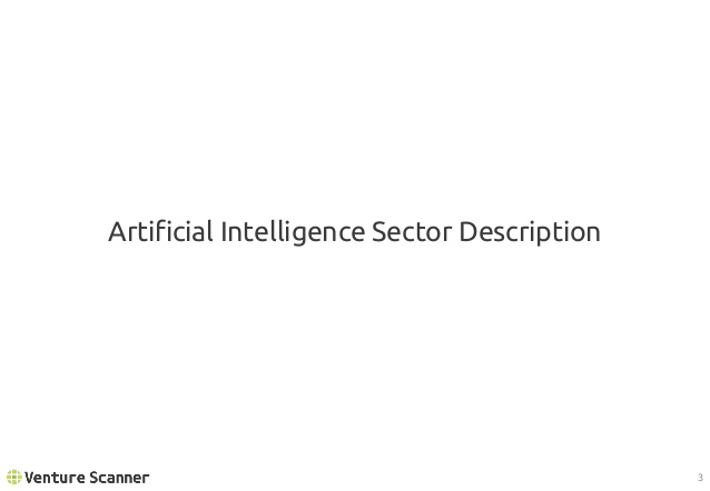 Artificial Intelligence Sector Description