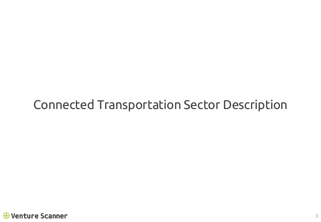 Connected Transportation Sector Description