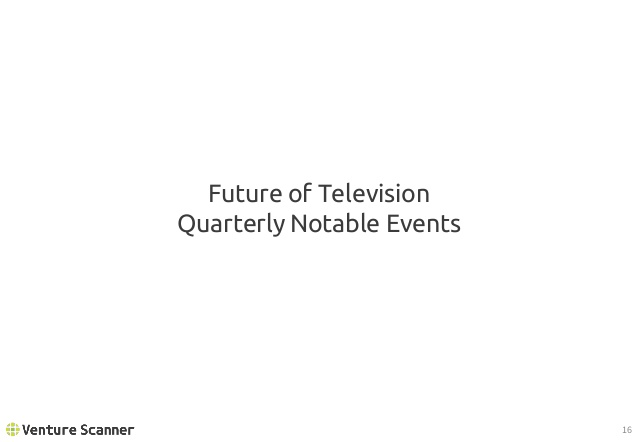 Future of TV Recent Events