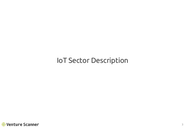 IoT Sector Description