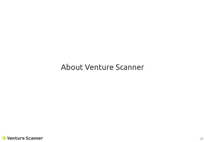 Real Estate Tech Q1 2017 About Venture Scanner