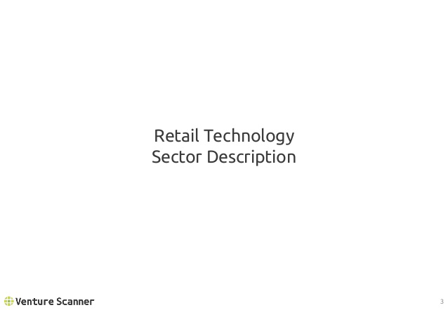 Retail Tech Sector Description