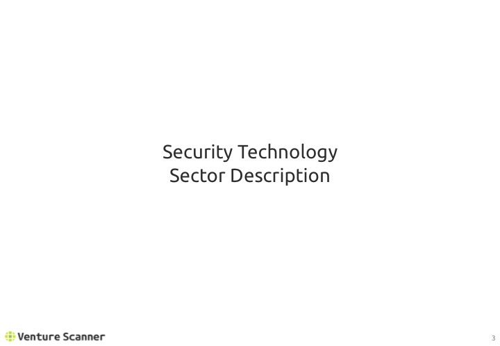 Security Technology Sector Description