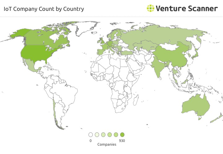 IoT Company Count by Country