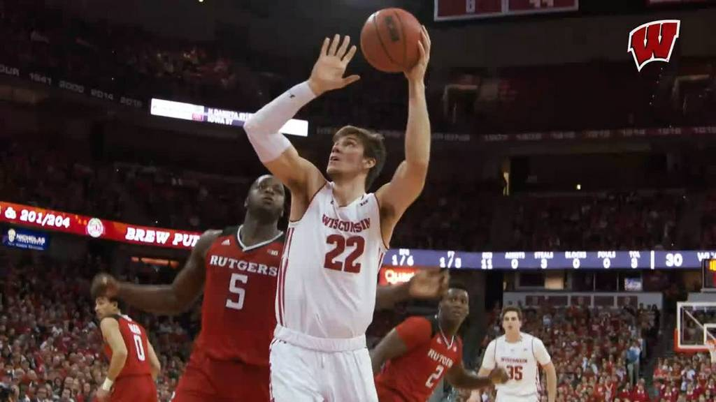 Ethan Happ: To my young aspiring big men-- every bucket in this video is left handed (excluding the...