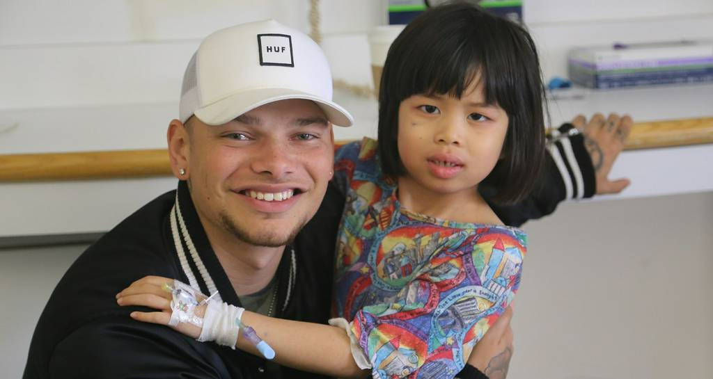 Kane Brown: Kane Brown Brightens The Day Of Young Hospital Patients.  The children within the halls...