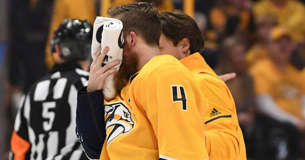 NHL (National Hockey League): Cut faces, broken bones, frayed ACLs: Injuries don't slow down players in NHL playoffs....