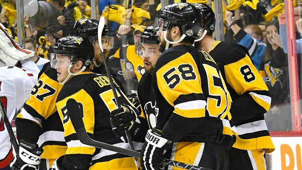 NHL (National Hockey League): Pens hold Caps in check with Wilson suspended.  With Tom Wilson serving the first game ...