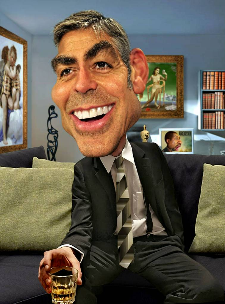 George Clooney: George Clooney.  I finished this manipulation of George Clooney I started a couple of d...