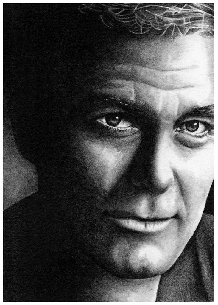 George Clooney: George Clooney Time taken :- About 4 hours Pencils Used :- 2H, 2B & HB mechanical Paper...