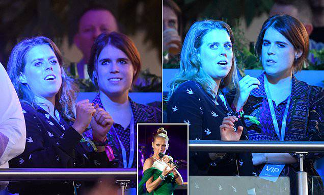 Celebrity Gossip: Princess Beatrice dances along to Celine Dion with sister Eugenie.  Beatrice, 30, appea...