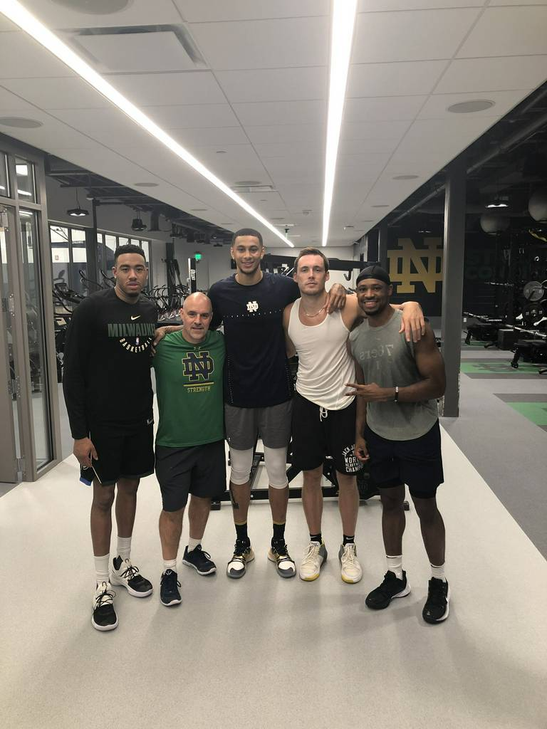 Bonzie Colson: Forever Family ��.  Pat Connaughton on Twitter: 'ND Pro Camp Yr. 1 ✔️.. iron sh...