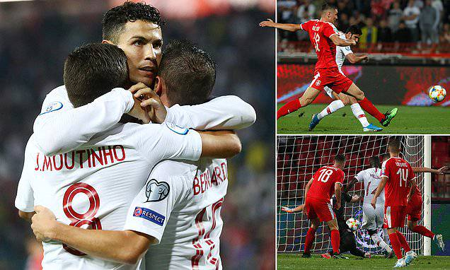 Bernardo Silva: Serbia 2-4 Portugal: Cristiano Ronaldo and Bernardo Silva on target in six-goal thrille...