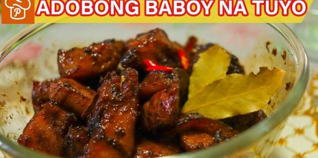 Amazing Filipino Recipes: How to Cook Adobong Baboy na Tuyo.  Ingredients:500g pork liempo, cut into chunks 4 clo...