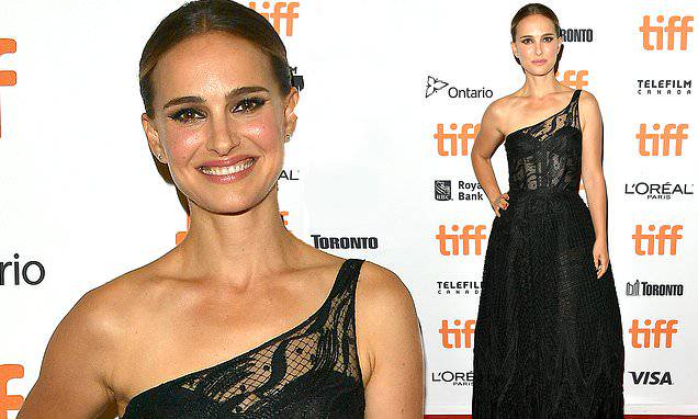 Natalie Portman: Natalie Portman stuns in sheer black lace gown at the TIFF premiere of Lucy in the Sky....
