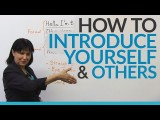 如何自我介紹 (How to introduce yourself & other people) Image