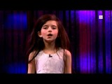Amazing seven year old sings Fly Me To The Moon (Angelina Jordan) on Senkveld 'The Late Show' Image