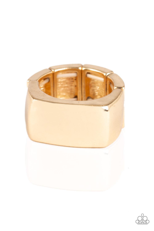 Paparazzi Accessories:  Straightforward - Gold (2817)