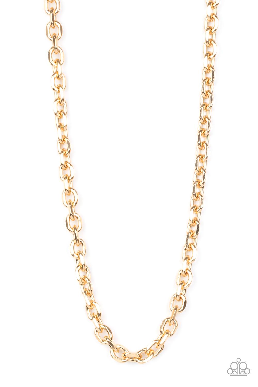Paparazzi Accessories:  Steel Trap - Gold (3060)