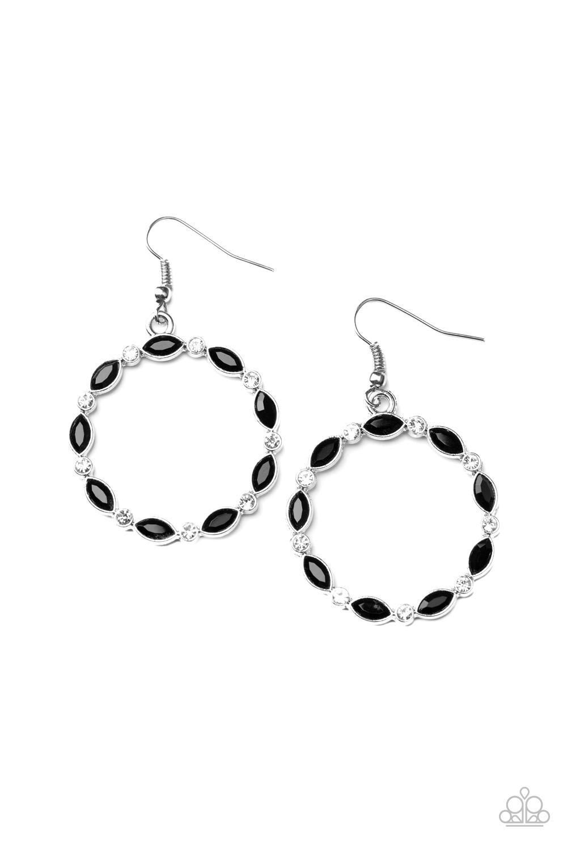 Paparazzi Accessories:  Crystal Circlets - Black (78)