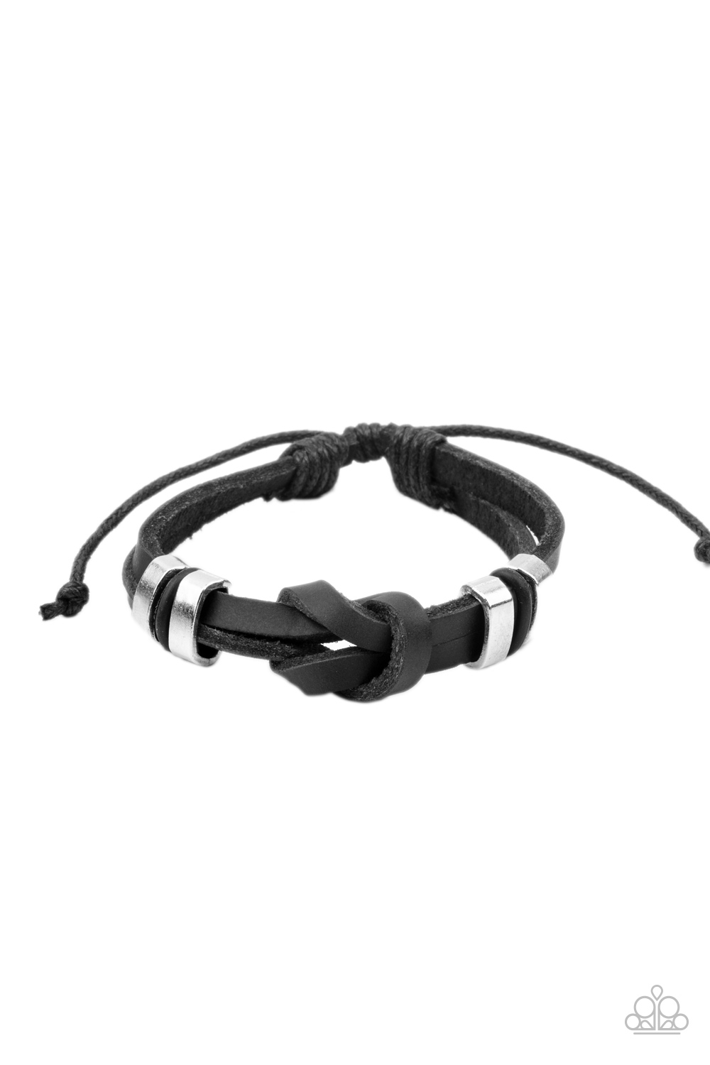 Paparazzi Accessories:  Like It Or KNOT - Black (1036)